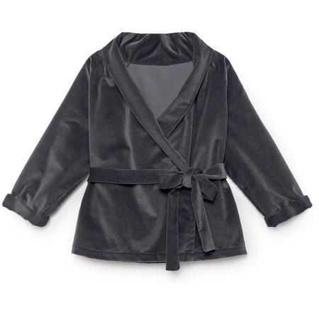 Kids Little Creative Factory Rose's Velvet Wrap Jacket - Soft Gray