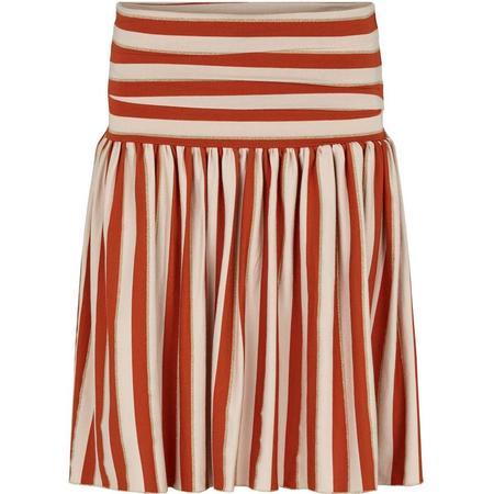 Kids Marmar Copenhagen Salvie Skirt - Burnt Red Stripe