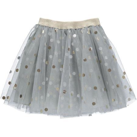 Kids Marmar Copenhagen Solo Sun Skirt - Pale Blue/Gold Polka