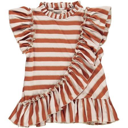 Kids Marmar Copenhagen Tyrose Shirt - Burnt Red Stripe