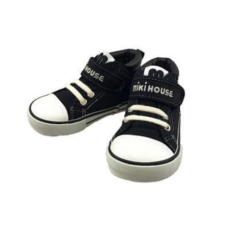 Kids Miki House High Top Sneaker - Black