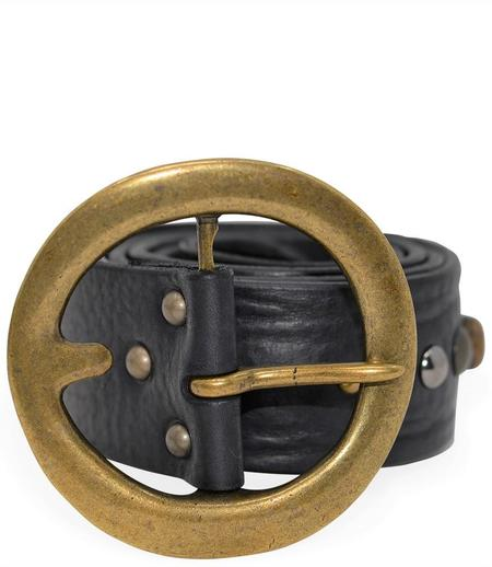 RICCARDO FORCONI 4042 LEATHER BELT - NERO
