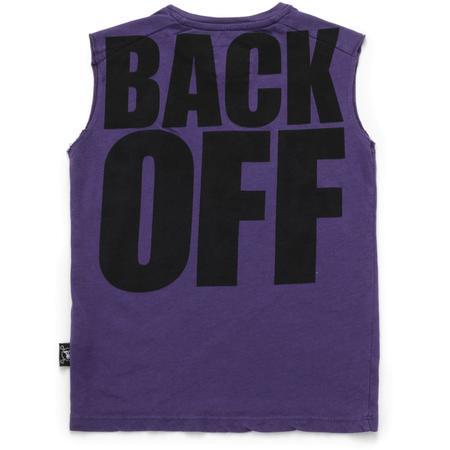 KIDS nununu back off sleeveless shirt - deep purple