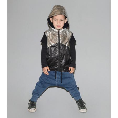 KIDS nununu nylon vest - silver/black