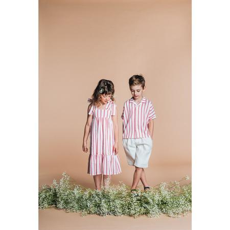 kids paade mode cotton maxi dress - scallop