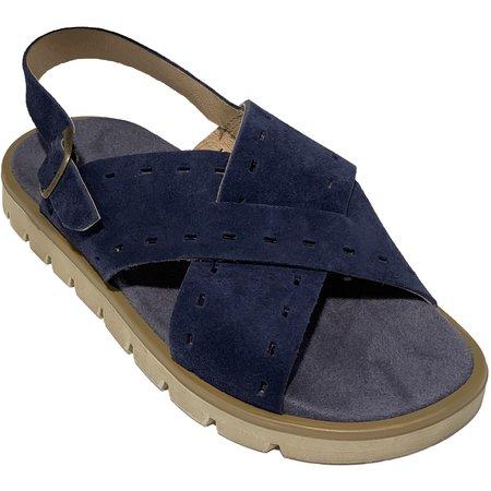 Kids pèpè suede sandals - indigo