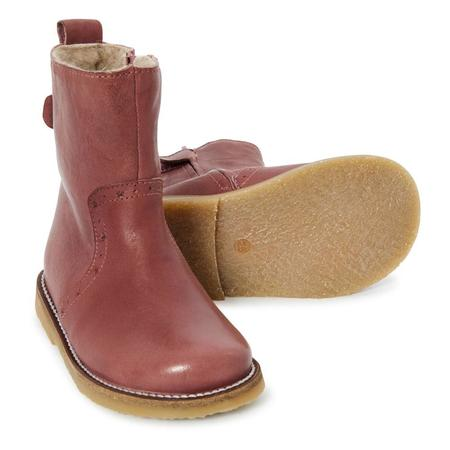 kids petit nord winter boots - berry