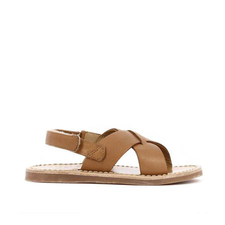 kids pom d'api stitch cross sandal - camel