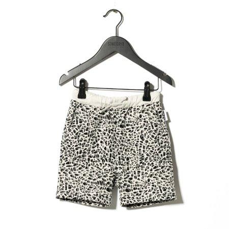 Kids Sometime Soon Delano Shorts - White Aop