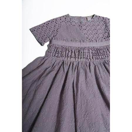 Kids Tia Cibani Asymmetrical Patchwork Dress - Beet