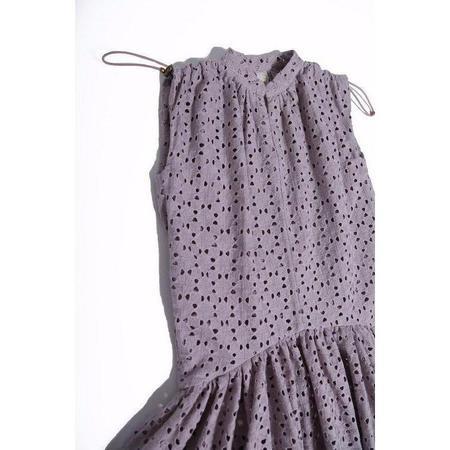 kids tia cibani shoulder cinched hi-low maxi dress - beet