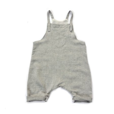 Kids Unisex Treehouse Tore Nuance Baby Apron Overall - Grey Marble