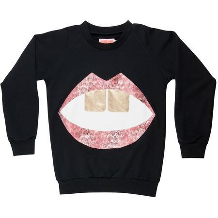 wauw capow by bangbang copenhagen hello sweatshirt - black