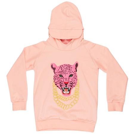 Kids wauw capow by bangbang copenhagen pink panther hoodie - light pink