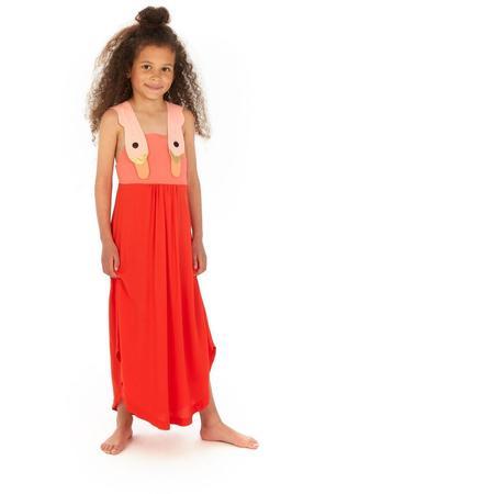 Kids Wauw Capow By Bangbang Copenhagen Summer Dream Dress - Red/Light Pink