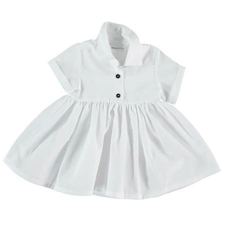 Pequeno Tocon Baby Shirt Dress - White