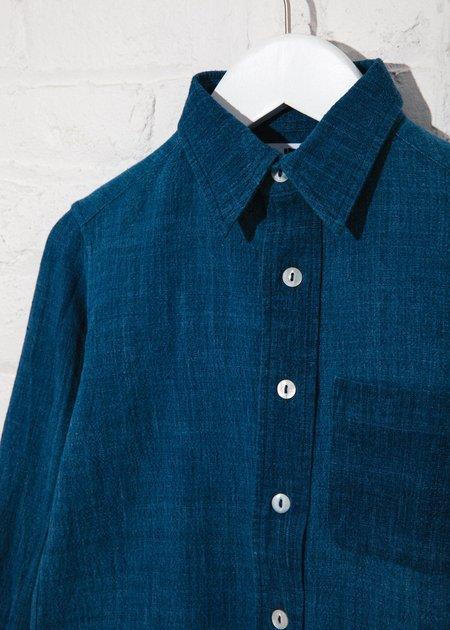 Kids Indi Matty Shirt - Hand Woven Indigo