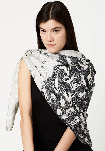 Olivia Wendel Wood into Water Scarf