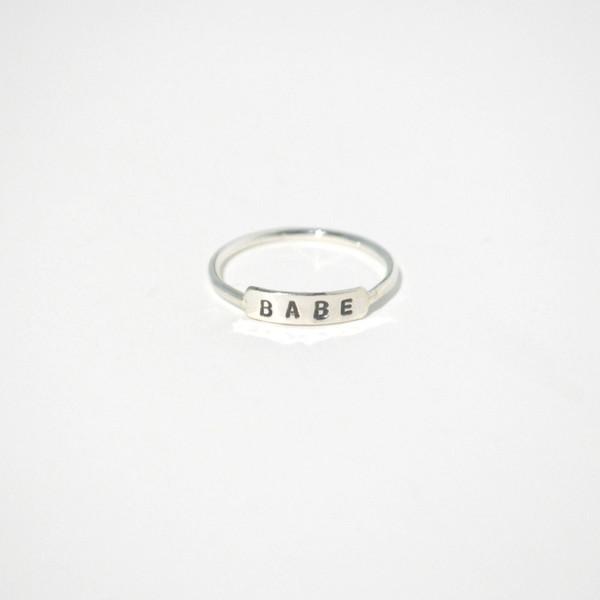 Gem & Blue Babe Ring - Silver