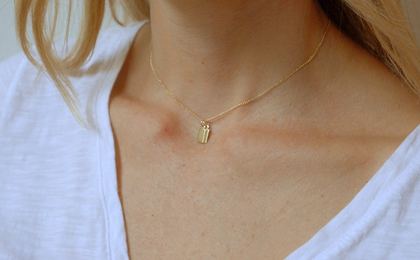 Gem & Blue - Initial Necklace
