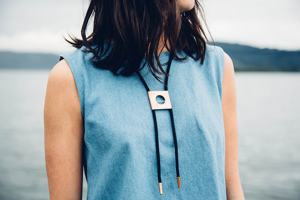 REIFhaus ECLIPSE BOLO NECKLACE