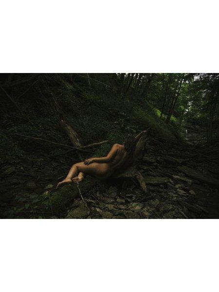 homme femme artist series 9x12 encaustic wood