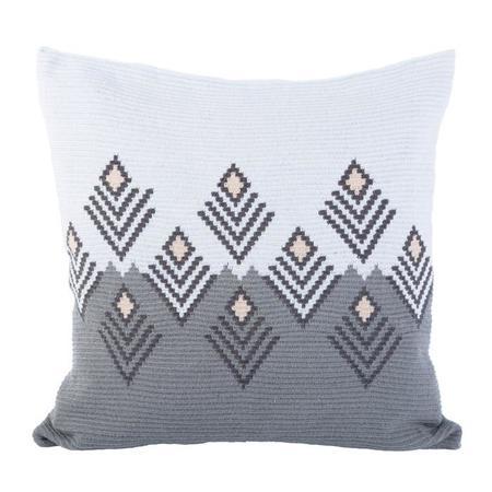 D.A.R. Projects Handmade Floor Cushion Cover - Grey/Sky Blue/Beige Cream