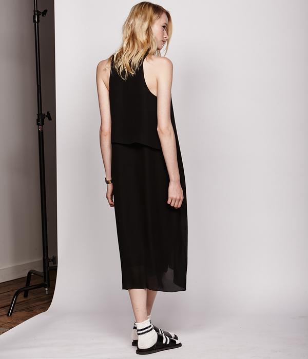 Nikki Chasin Georgette Storm Flap Tank Dress
