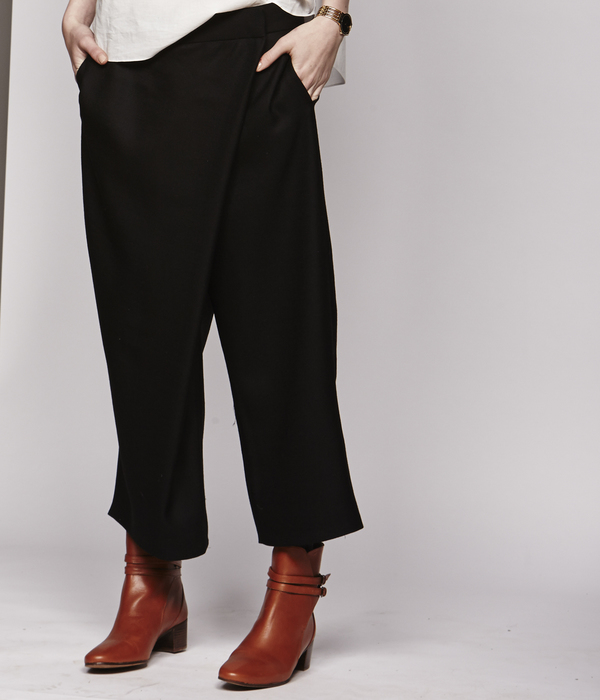 Nikki Chasin Wrap Front Wool Pant