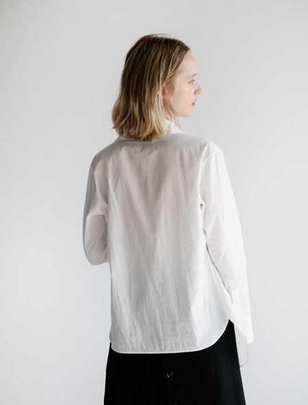 Ys by Yohji Yamamoto Uneven Hem Shirt - Snow Lawn