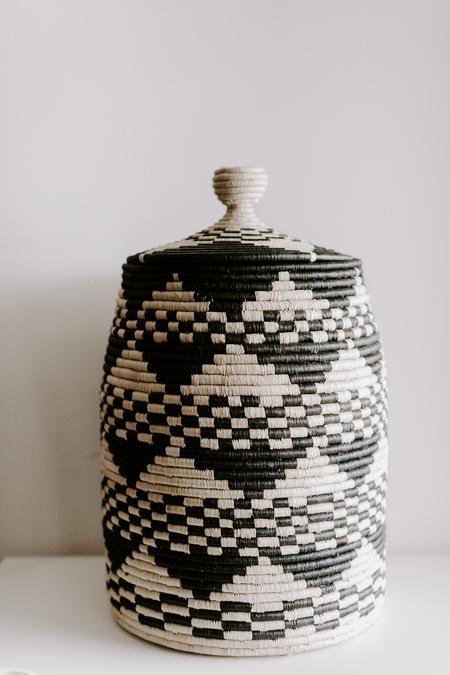 Indego Africa Floor Lidded Basket
