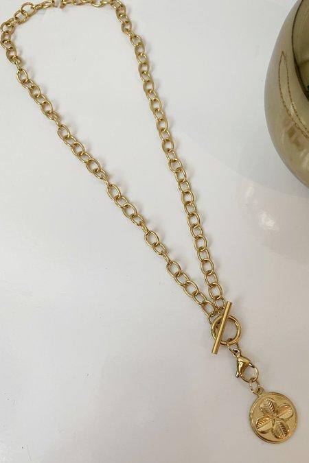 Ellie Vail Jewelry Sasha Clover Necklace - 18K Gold