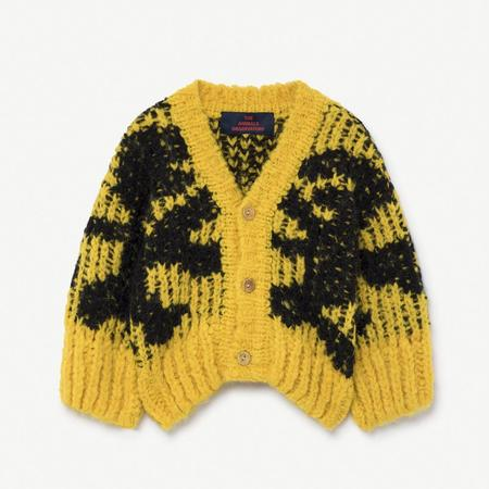 Baby The Animals Observatory Arty Raccoon Sweater - Yellow/Black