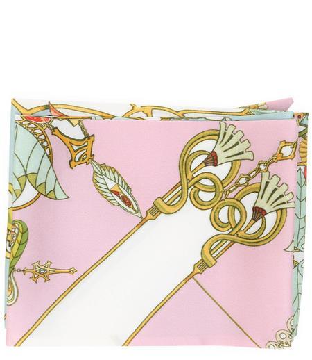 St. Piece Krystal Silk Scarf - Mint/Pink