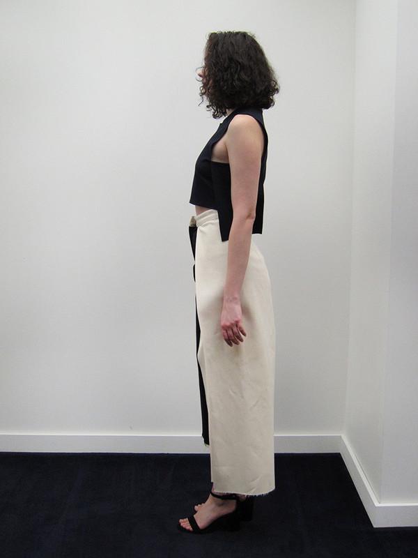 Nancy Stella Soto Offset Denim Trouser