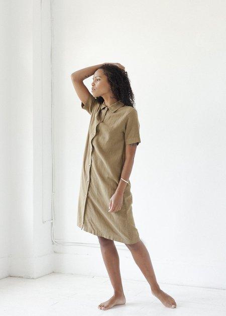 Me & Arrow Long Jacket Dress - Khaki