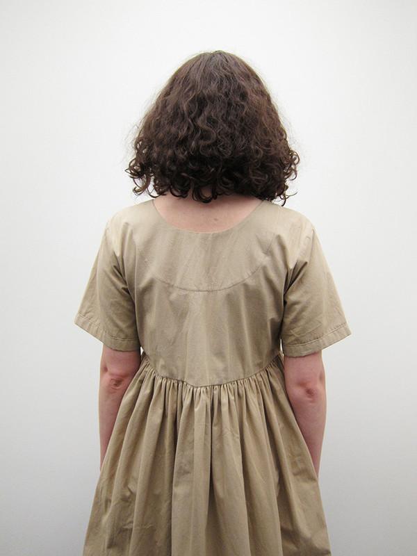 Rowena Sartin Paper Cut Dress, Khaki
