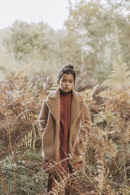 Kids The New Society Freya Teddy Coat - Camel