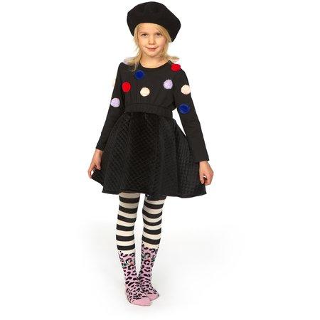 Kids Wauw Capow By Bang Bang Copenhagen Flora Flow Dress - Black