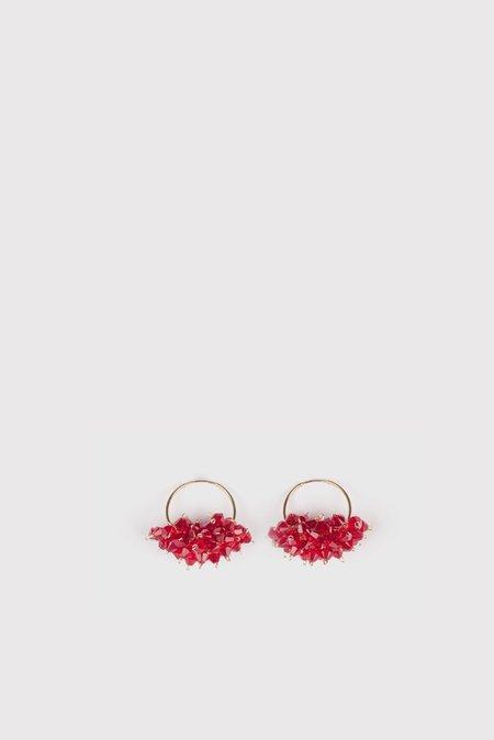 Bluemly Mini Queen Gold Hoop Earrings - Vacay
