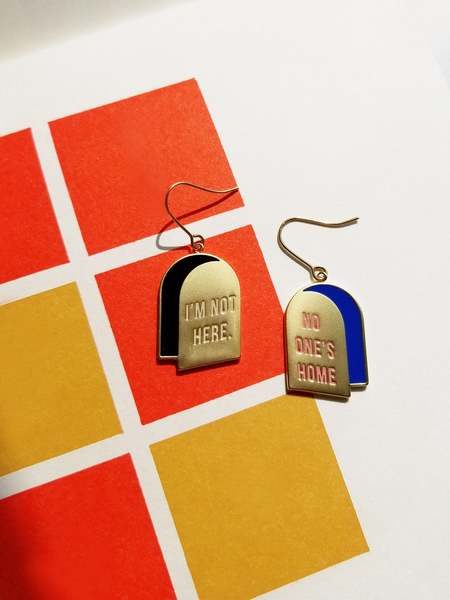 MATTER MATTERS I'm not here + No one's home Earrings