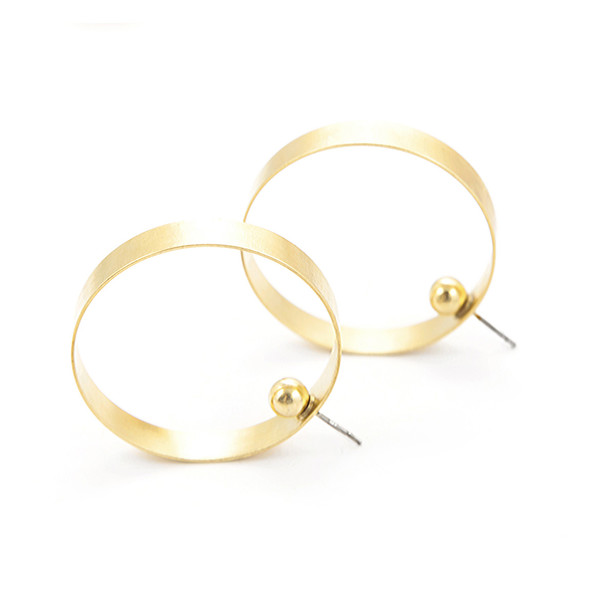 Alynne Lavigne Large Side Hoops