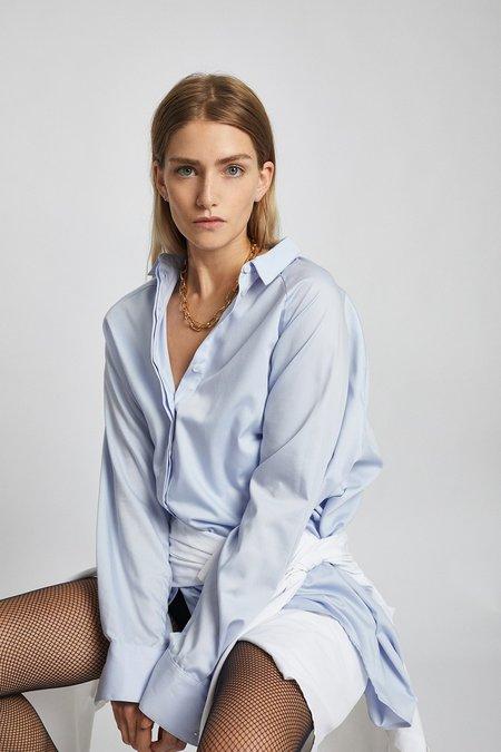 LEBRAND Oversized Shirt - Blue