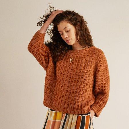 THE ODELLS Eastside Pullover Sweater - CAMEL