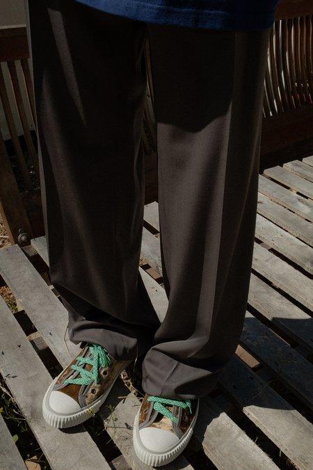 Lanvin Virgin Wool 30cm Wide Trousers - Mouse Grey