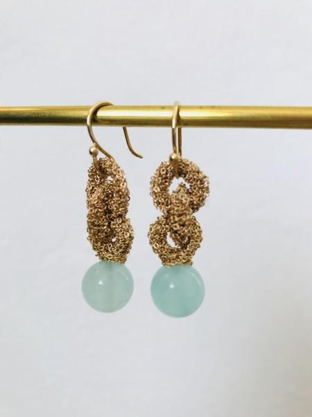 LA VIE BOHEME L.V.B. Chain w/green quartz - gold