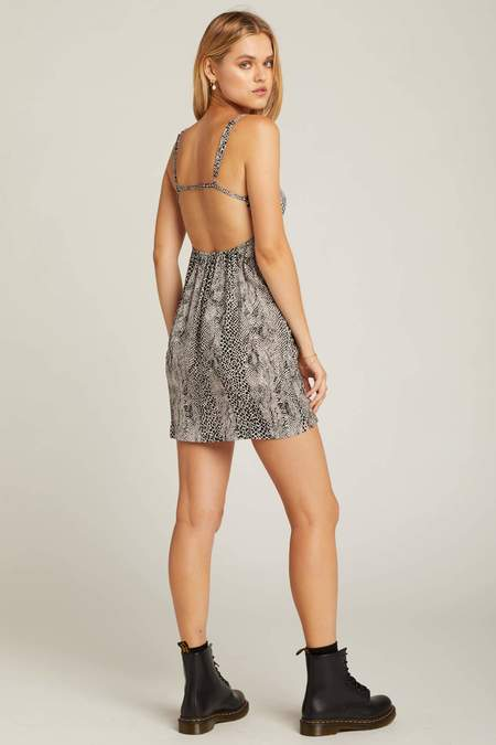 Free People Wild Child Mini Dress - Animal Print