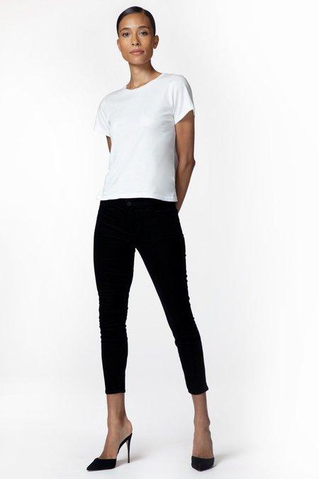 J Brand 835 Mid Rise Crop Skinny Corduroy - black