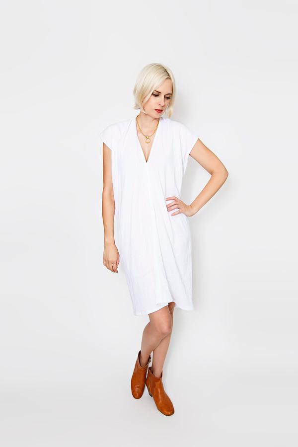 Miranda Bennett White Everyday Dress   Double Gauze