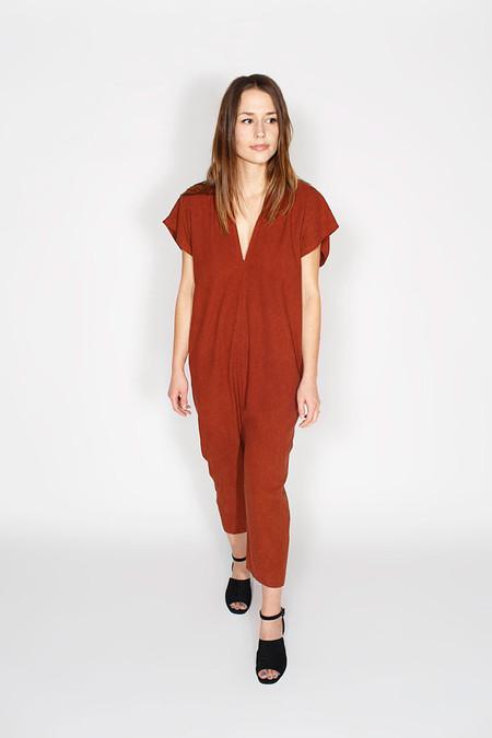 Miranda Bennett Everyday Jumpsuit, Silk in Rust